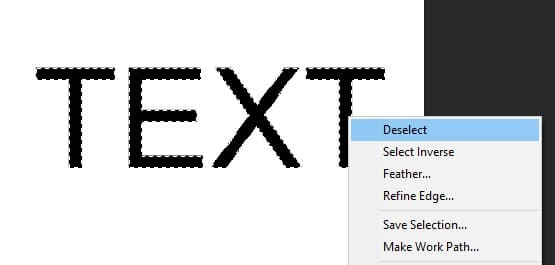 How to Deselect Text in Photoshop