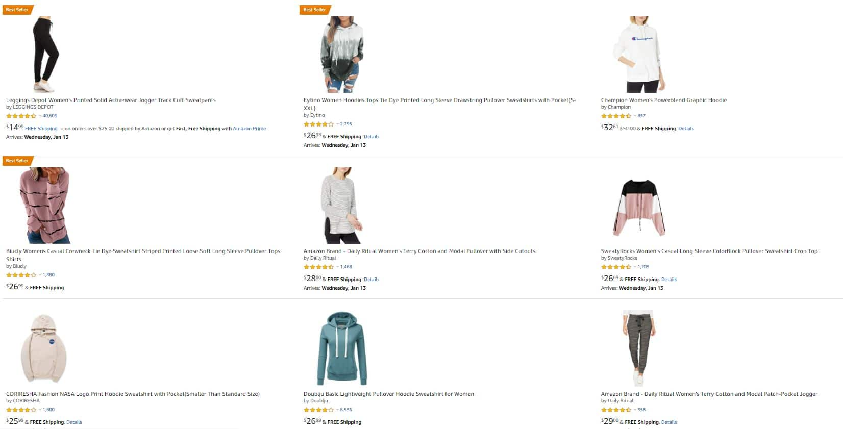 Amazon Products Listing