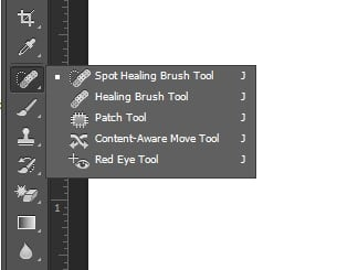 Step 1: Pick the Healing Brush Tool
