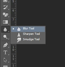 Step 2: Pick the blur Tool