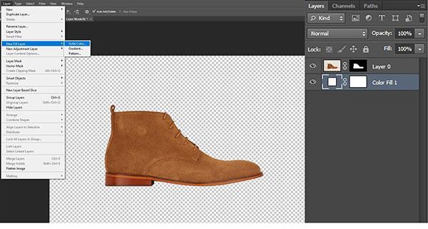 Step 2 : Create White Color Layer
