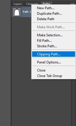 Step 6 : Clipping path