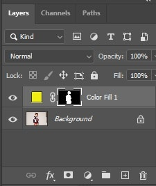 Click on the layer mask