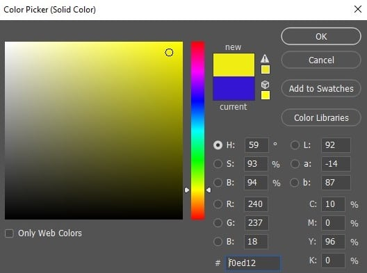 Select Background Color