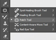 Take the Patch tool